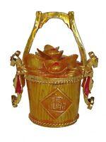 Feng Shui Bejeweled Cloisonne Wealth Bucket