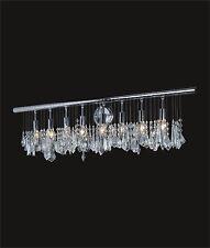 "Decorative 8-Light CRYSTAL CHROME WALL SCONCE (W36"" x H11"" x E6"") Contemporary"