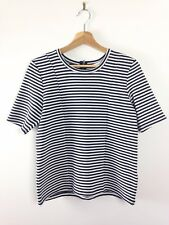 Jasper Conran Black and White Textured Striped Panelled Top Size 10
