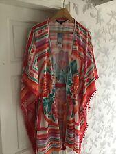Bonmarche Women's Muiltcoloured Print Beach Wear Cover Up Size M Medium New
