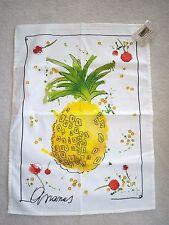 Le Telerie Toscane Cotton Kitchen Tea Towel Pineapple Ananas New ITALY NWT