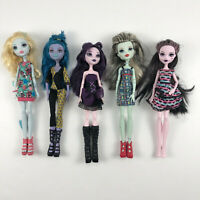 Monster High Lot 5 Dolls Frankie Elissabat Draculaura Party Lagoona Blue Pet