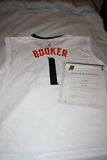 DEVIN BOOKER #1 PHOENIX SUNS AUTOGRAPHED JERSEY WHITE WITH COA