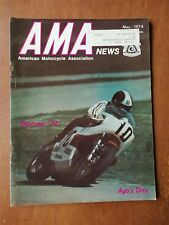 AMA News American Motorcycle Magazine May 1974 - Daytona - Harley-Davidson Ad
