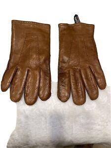 Gates Men's Leather Dress Gloves 100% Lambskin Cognac Brown XL