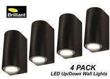 4 x LED Black Up/Down Wall Lights Corbett 240V 2 x 5W GU10 Weatherproof Outdoor