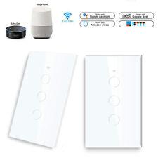 1/2/3 Gang casa inteligente Wi-fi Táctil Panel Interruptor de pared de luz para casa Alexa/Google