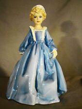"""Royal Worcester Porcelain Figurine """"Grandmother's Dress"""" #3081 Blue"""