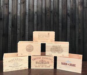 Wooden Wine Box 6 Bottle Crate -  STORAGE/DISPLAY/VINTAGE/GARDEN *FREE P&P*