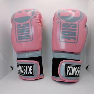 Ringside IMF Tech Boxing Gloves Pink, Black & White - SMALL,Medium (12oz) NEW