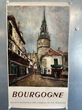 Affiche ancienne Bourgogne SNCF (59x100m)