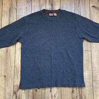 LL bean men's Large crewneck thermal Long Sleeve sweatshirt  gray
