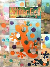 Vitrogel Geko Shapes Reusable Decorative Gel Window Clings Stickers
