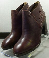 7851715  LSPBTS50 Womens Shoes Size 7 M Burgandy Leather Boots Johnston & Murphy