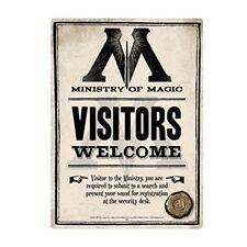 Blechschild Harry Potter Ministry Of Magic 15 X 21 Cm Tin Sign Ssa5hp08