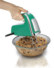 Hamilton Beach 6-Speed 290 Watt Hand Mixer with Snap on Case and Pulse, Green