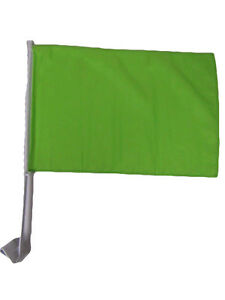 """12x18 Wholesale Lot 12 Solid Neon Green Car Vehicle 12""""x18"""" Flag"""