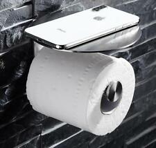 Roll Towel Tissue Paper Holder Mobile Phone Shelf Rack,Brushed Stainless Steel