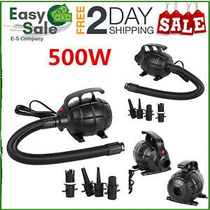 Tragbare Elektrische SUP Luftpumpe 500W 2200L/min für Schlauchboot Luftmatratze