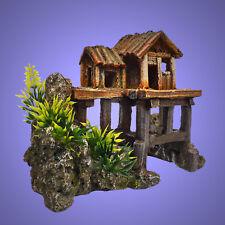 Aquarium Deko kleines ❤️ PFAHL HAUS ❤️ Höhle Fische Terrarium Dekoration Zubehör