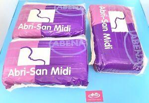3 x Pack 28 (84 Pads) Abri-San Midi  Urinary Incontinence Pads / Slips