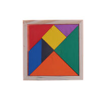 Wooden Tangram Brain Teaser Puzzle Educational Developmental Kids Toy NT