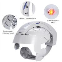 Head Massager Helmet Scalp Brain Relax Electric Vibration Acupuncture Machine