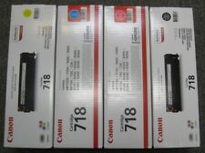 Genuine Canon 718 Toner Cartridge x4 (black, yellow, cyan & magenta) Full set