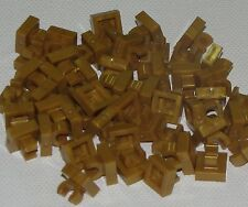 Lego Lot of 50 New Pearl Gold Tiles Modified 1 x 1 with Clip Rounded Edges
