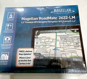 "NEW in OEM Box Magellan Roadmate 2622-LM 4.3"" GPS Navigator Set Lifetime Maps"