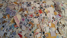 ~~VINTAGE TREASURES~~  60+ USED STAMPS ON-PAPER Different Size Issues