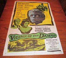 1960 VILLAGE OF THE DAMNED One-Sheet Movie Poster G/VG George Sanders 60/150