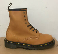 DR. MARTENS 1460 TAN SERVO LUX  LEATHER  BOOTS SIZE UK 7