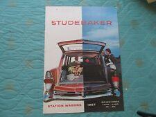 0802s   1957 Studebaker Station Wagons sales catalog brochure