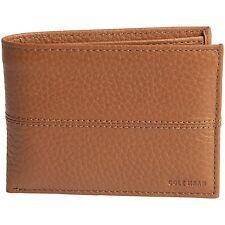 Cole Haan Pebbled Cognac Leather Bi-Fold Men's Wallet w/ Removable Passcase $98