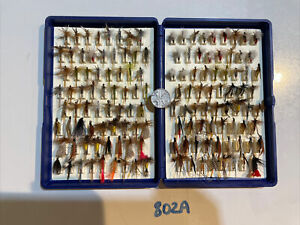 Fox Box Fly Box With 135 Flies Altogether Approx. / Job Lot Of Flies