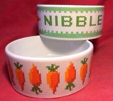 2 X Rabbit Pot Bowl 5 Inch Carrots Guinea Pig Food Water Ferret Chinchilla Rat