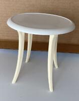Mattel Barbie Doll Dining/Kitchen White & Tan Round Table EUC