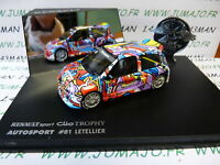 G voiture 1/43 Universal Hobbies eagle collectibles : CLIO TROPHY #81 Letellier
