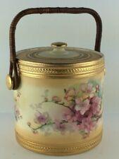 Antique Lancasters limited Hanley England ice bucket Biscuit jar excellent 1800s