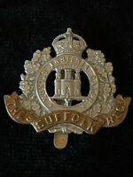 The Suffolk Regiment Bi Metal Cap Badge 100% Genuine Military Army MA8/9