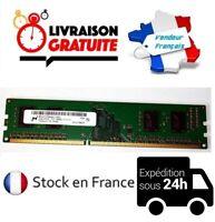 BARRETTE MÉMOIRE DE RAM MICRON DDR3 2GO 2GB PC3 12800U 1RX16 1600MHZ ORDINATEUR