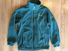 COLUMBIA Green OREGON DUCKS Full Zip Fleece Jacket Youth Size 14/16