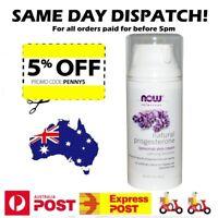 Now Foods Natural Progesterone Liposomal Skin Cream  85 g Calming Lavender Scent