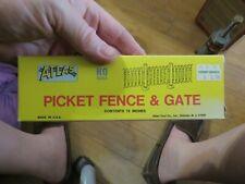Atlas Ho Scale Model Railroad/Train Accessory Picket Fence & Gate