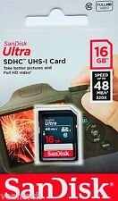 Sandisk Ultra 16GB SD SDHC UHS-1 class10 48MB/S 16GB SD Speicherkarte NEU&OVP