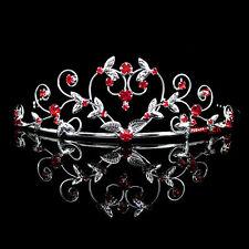 Rot Herz Hochzeit Braut Haarschmuck Haarreif Kommunion Krone Diademe Tiara