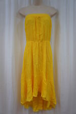 Swim Cover Coco Bianco Sz M Lemon Yellow Strapless Beach Wear Cover Up