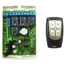 4CH Latch / Momentary Receiver RF Remote Control part of Wireless Access Control