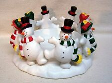 Partylite Frolicking Frostys Candle Holder #P7364 Original Box